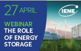 Webinar IENE: The Role of Energy Storage in Advancing Large Scale RES Penetration