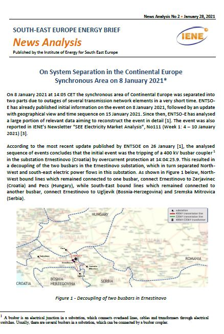 South-East Europe Energy Brief – News Analysis