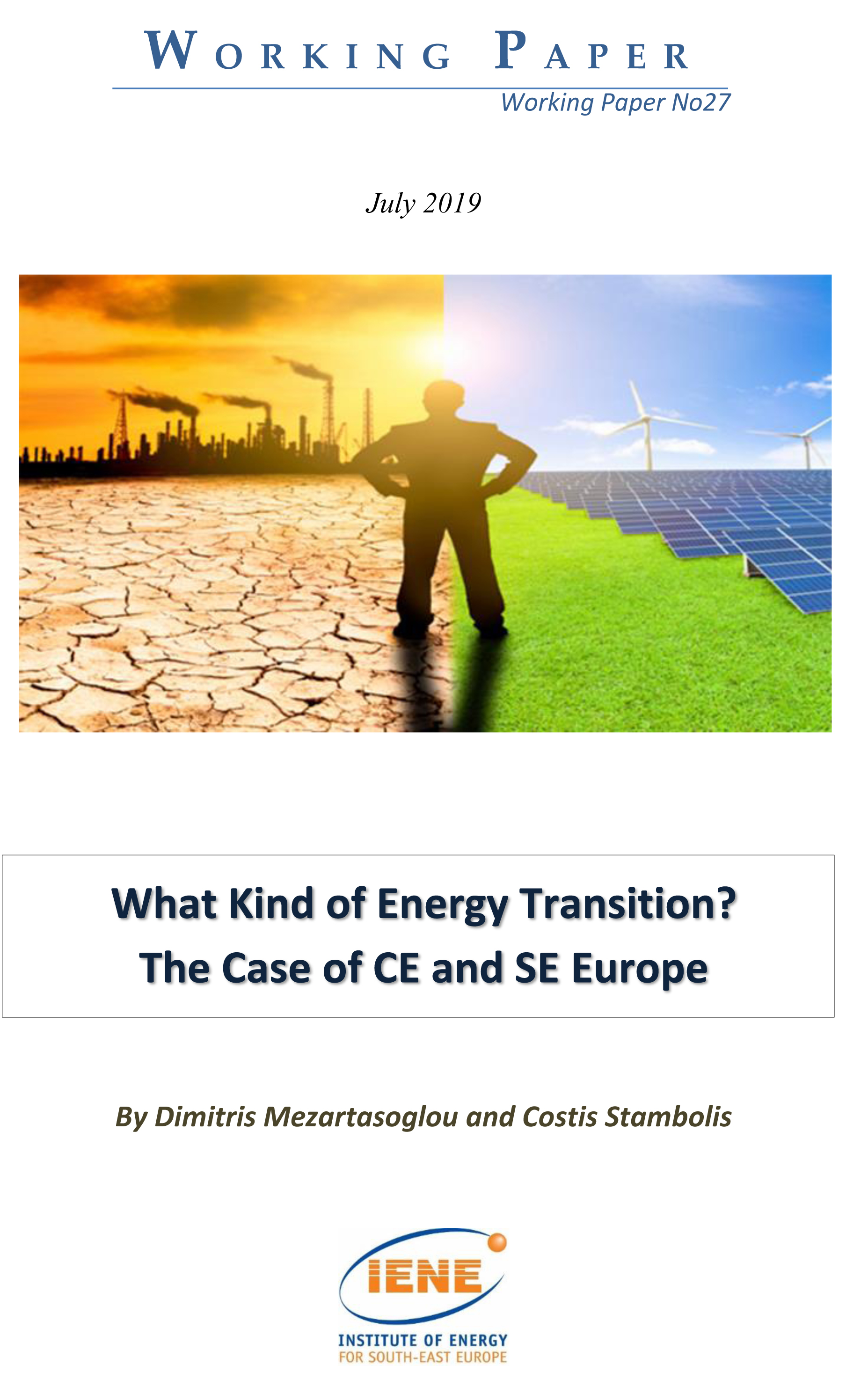 WP 27 - What Kind of Energy Transition? The Case of CE and SE Europe