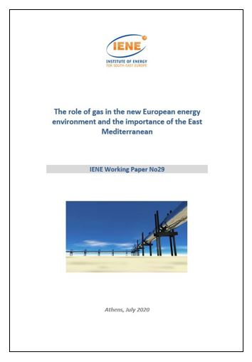 WP 29 - The role of gas in the new European energy environment and the importance of the East Mediterranean