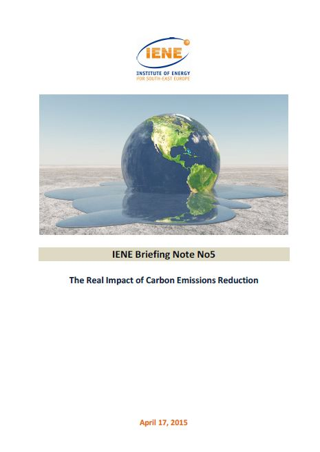 IENE Briefing Note No5 - The Real Impact of Carbon Emissions Reduction