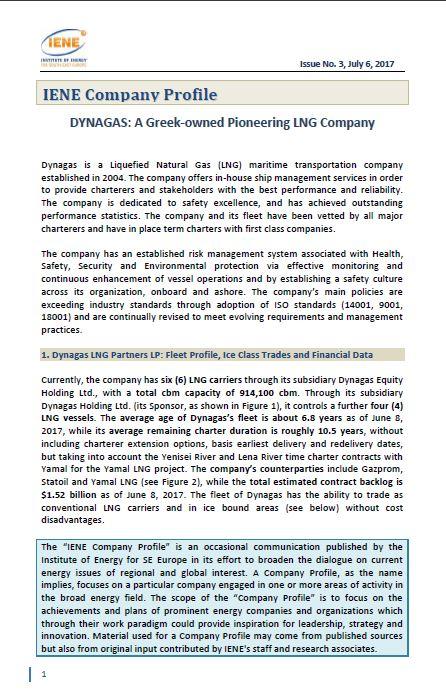 IENE Company Profile No 3 - DYNAGAS