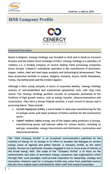 IENE Company Profile No 5 - CENERGY