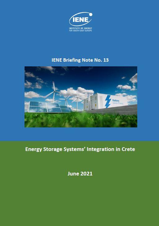 IENE Briefing Note No 13 -Energy Storage Systems' Integration in Crete