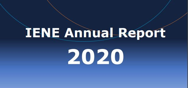 Annual Report for 2020 provides useful insight on IENE's diverse work and activities