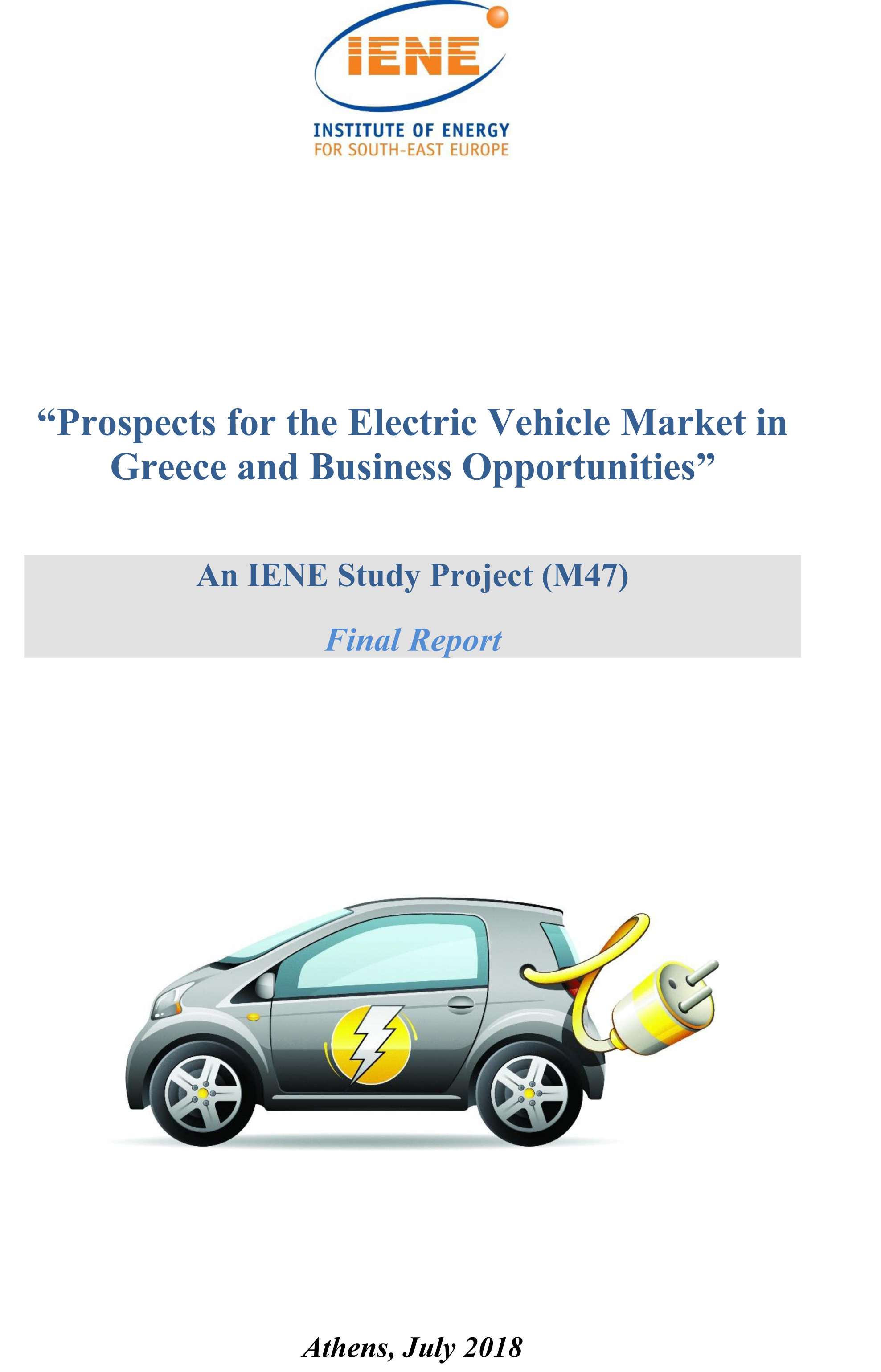 Prospects for the Electric Vehicle Market in Greece and Business Opportunities