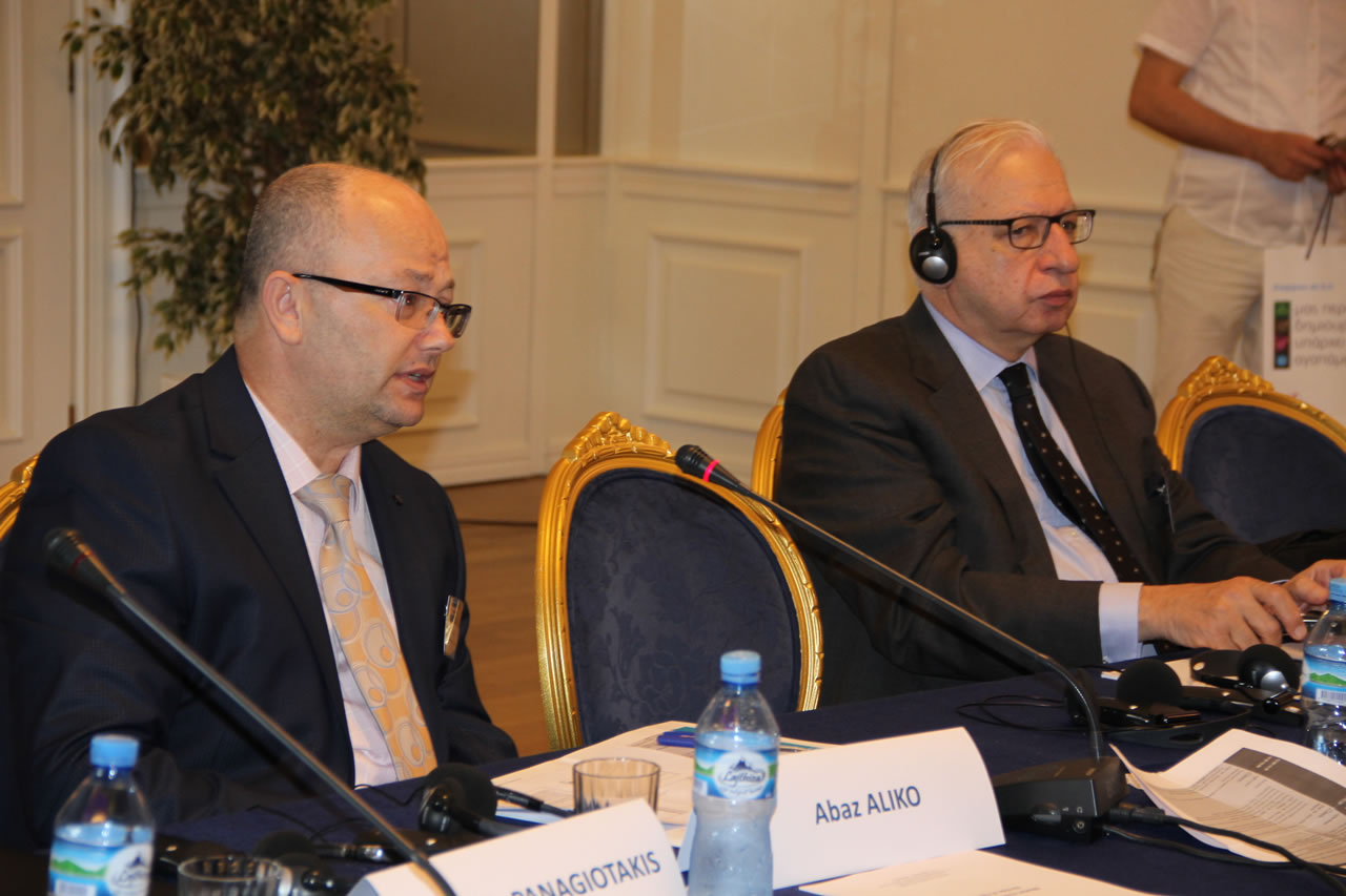 Mr. Abaz Aliko, Commissioner, Albanian Regulatory Authority (ERE), Albania, Mr. Costis Stambolis, Executive Director, IENE