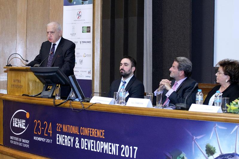 Κλείσιμο Συνεδρίου από τον Εκτελεστικό Διευθυντή του ΙΕΝΕ  κ. Κωστή Σταμπολή